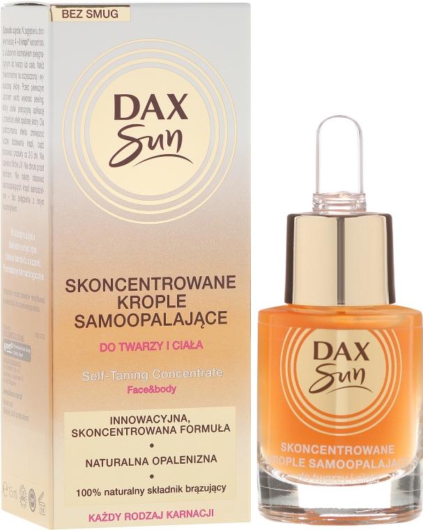 Selbstbräuner-Konzentrat für Gesicht und Körper - Dax Sun Self-tanning Concentrated Drops