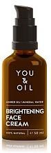 Düfte, Parfümerie und Kosmetik Aufhellende Gesichtscreme - You & Oil Amber Brightening Face Cream