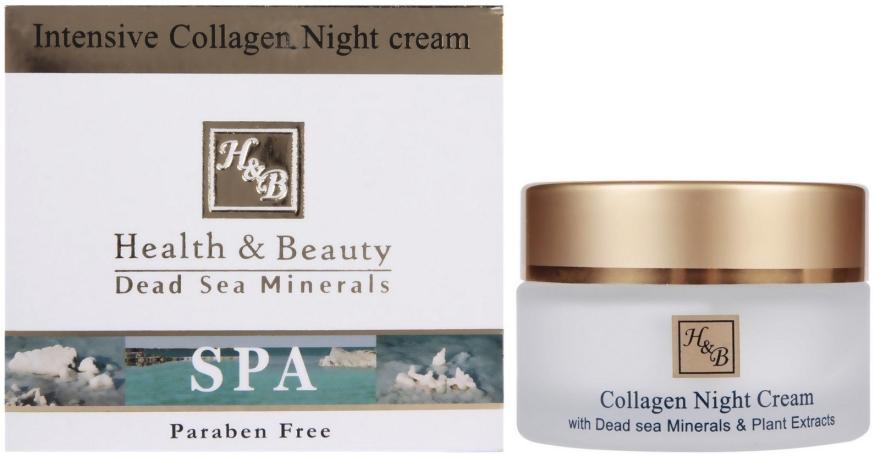 Intensive Anti-Falten Nachtcreme mit Kollagen und Mineralien aus dem Toten Meer - Health and Beauty Intensive Collagen Night Cream — Bild N1
