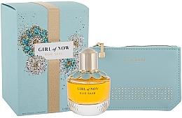 Düfte, Parfümerie und Kosmetik Elie Saab Girl of Now - Duftset (Eau de Parfum 50ml + Kosmetiktasche)