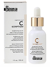 Düfte, Parfümerie und Kosmetik Aufhellendes Gesichtsserum mit Vitamin C - Dr. Brandt Bright This Way C Scription Brightening Serum