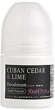 Düfte, Parfümerie und Kosmetik Bath House Cuban Cedar & Lime - Deo Roll-on für Männer