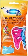 Düfte, Parfümerie und Kosmetik Zahnstocher ideal für Kinderzähne mit Fruchtgeschmack rosa und blau - DenTek Kids Fruit Fun Flossers