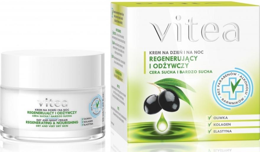 Regenerierende und pflegende Gesichtscreme für tockene und sehr trockene Haut - Vitea Regenerating and Nourishing Face Cream