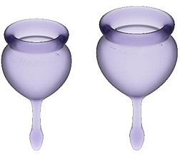 Düfte, Parfümerie und Kosmetik Set Menstruationstassen violett 2 St. - Satisfyer Feel Good Menstrual Cups Lila