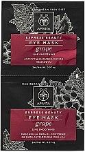 Düfte, Parfümerie und Kosmetik Glättende Augenkonturmaske mit Traube - Apivita Express Beauty Eye Mask Grape