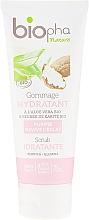 Düfte, Parfümerie und Kosmetik Feuchtigkeitsspendendes Gesichtspeeling mit Scheabutter und Aloe Vera - Biopha Nature Scrub Idratante