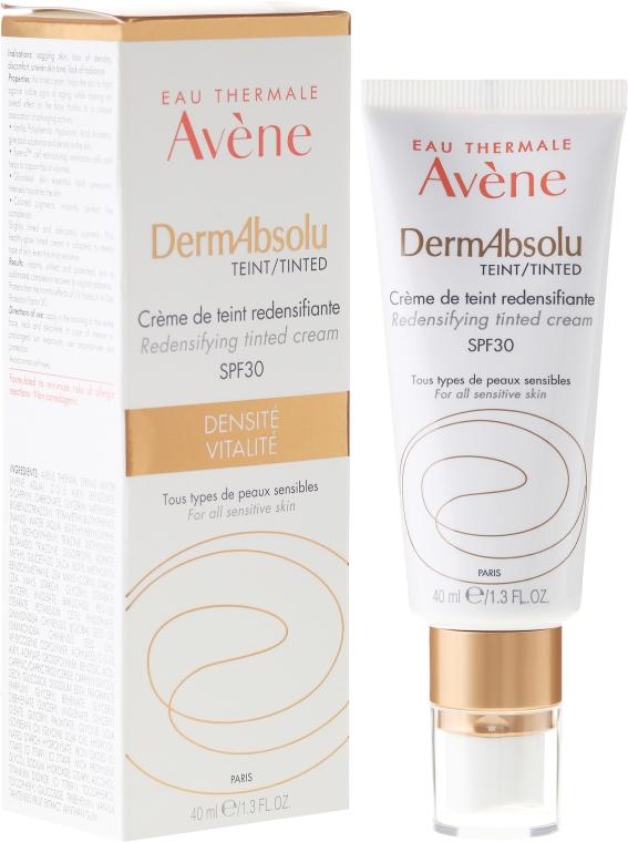 Revitalisierende getönte Gesichtscreme für strahlenden Teint SPF 30 - Avene Eau Thermale Derm Absolu Cream SPF30