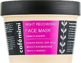 Düfte, Parfümerie und Kosmetik Regenerierende Nachtmaske für das Gesicht mit Mango und Amaranth - Cafe Mimi Night Recovering Face Mask