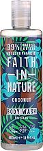 Düfte, Parfümerie und Kosmetik Feuchtigkeitsspendendes Duschgel mit natürlichem Kokosnussduft - Faith in Nature Coconut Body Wash