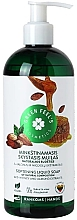 Düfte, Parfümerie und Kosmetik Aufweichende Flüssigseife mit Honig- und Mandelextrakt - Green Feel's