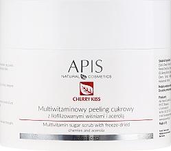 Düfte, Parfümerie und Kosmetik Multivitamin-Zuckerpeeling für den Körper mit gefriergetrockneten Kirschen und Acerola - APIS Professional Cheery Kiss