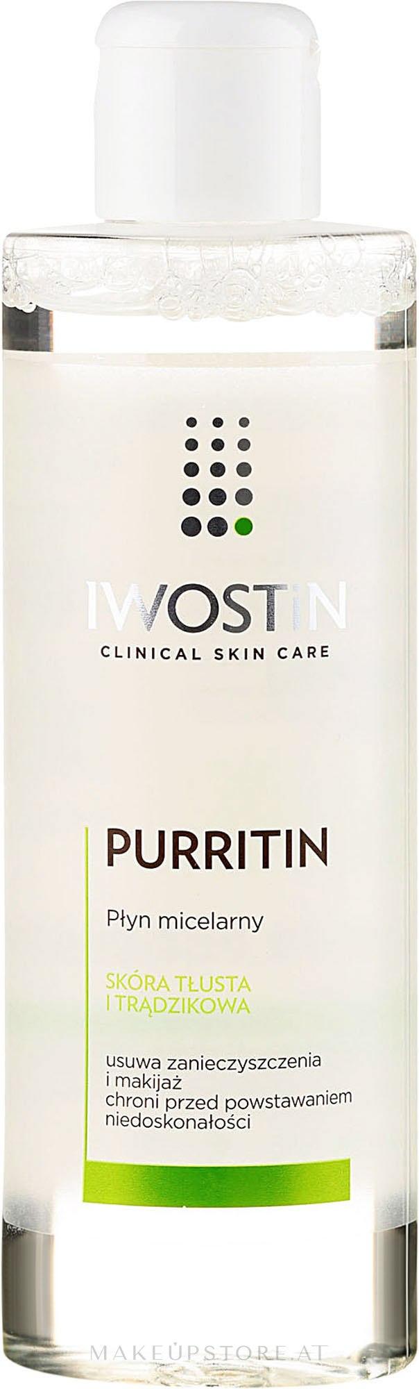 Mizellenwasser für fettige und zu Akne neigende Haut - Iwostin Purritin Face Cleansing Micellar Water — Bild 215 ml