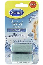 Düfte, Parfümerie und Kosmetik Austauschbare Rollen für elektrische Fußfeile 2 St. - Scholl Velvet Smooth Wet&Dry