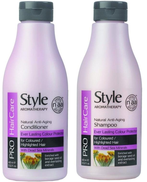 Haarpflegeset - Style Aromatherapy Pro HairCare (Shampoo 400ml + Conditioner 400ml) — Bild N1