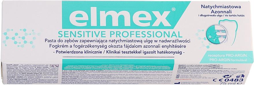 Medizinische Zahnpasta für sofortige und anhaltende Schmerzlinderung bei schmerzempfindlichen Zähnen - Elmex Professional Sensitive Toothpaste