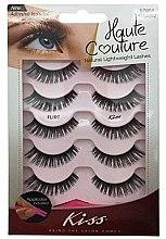 Düfte, Parfümerie und Kosmetik Künstliche Wimpern mit Applikator - Kiss Haute Couture Strip Lashes Flirt