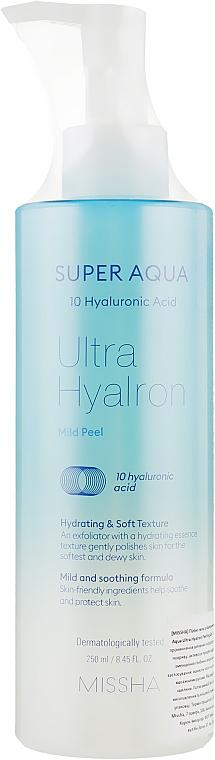 Sanftes und beruhigendes Peelinggel für das Gesicht mit Hyaluronsäure - Missha Super Aqua Ultra Hyalron Mild Peel — Bild N1