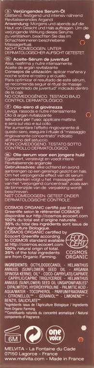Intensiv nährendes verjüngendes Gesichtsserum-Öl mit Arganöl - Melvita Argan Concentrate Pur Youthful Oil-Serum — Bild N3