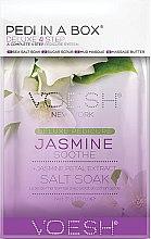 Düfte, Parfümerie und Kosmetik 4-stufige Jasmine Soothe Fußpflege - Voesh Deluxe Pedicure Jasmine Soothe In A Box 4in1 (1. Meer Badesalz, 2. Zuckerpeeling, 3. Schlammmaske, 4. Massagebutter)(35 g)