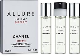 Düfte, Parfümerie und Kosmetik Chanel Allure Homme Sport Cologne - Eau de Toilette (3 x Nachfüllung mit Zesräuber)