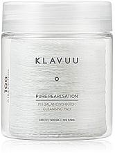 Düfte, Parfümerie und Kosmetik Feuchtigkeitsspendende Reinigungspads für das Gesicht 100 St. - Klavuu Pure Pearlsation PH Balancing Quick Cleansing Pad