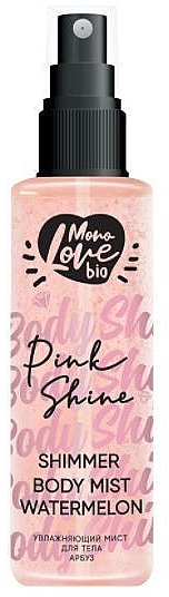 Körpernebel mit Wassermelone - MonoLove Bio Shimmer Body Mist Watermelon Pink Shine