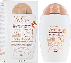 Düfte, Parfümerie und Kosmetik Getöntes mineralisches Gesichtsfluid mit Sonnenschutz SPF 50 - Avene Eau Thermale Tinted Mineral Fluid SPF 50+
