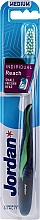 Düfte, Parfümerie und Kosmetik Zahnbürste mit Schutzkappe mittel Individual Reach dunkelblau-grün - Jordan Individual Reach Medium Toothbrush