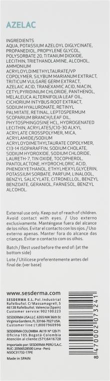 Feuchtigkeitsspendendes Gesichtsgel - SesDerma Laboratories Azelac Moisturizing Gel — Bild N3