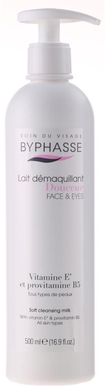 Sanfte Reinigungsmilch für Gesicht und Augen, für alle Hauttypen (Spender) - Byphasse Soft Cleansing Milk Face & Eyes All Skin Types