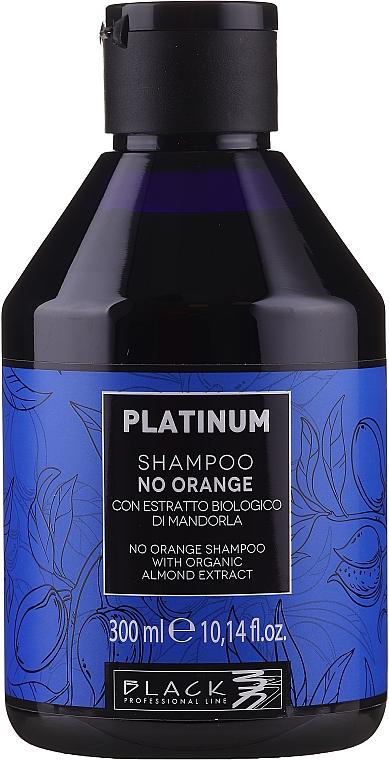 Anti-Orangestich Shampoo mit Bio Mandelextrakt - Black Professional Line Platinum No Orange Shampoo With Organic Almond Extract