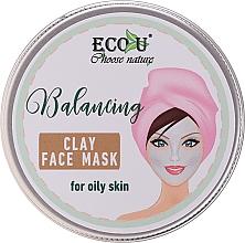 Düfte, Parfümerie und Kosmetik Ausgleichende Gesichtsmaske mit Tonerde für fettige Haut - Eco U Balancing Clay Face Mask For Oily Skin