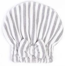 Düfte, Parfümerie und Kosmetik Mikrofaser-Haarturban weiß-grau - Trust My Sister Microfiber Pair Cap Grey