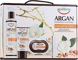 Düfte, Parfümerie und Kosmetik Gesichtspflegeset - Equilibra Viso Argan (Mizellenwasser 200ml + Make-up-Entferner-Tücher 25 St. + Gesichtscreme 75ml)