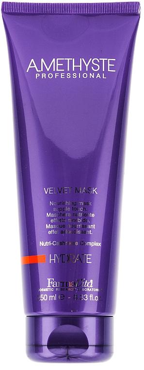 Maske für trockenes und erschöpftes Haar mit Olive, Shea und Argan - Farmavita Amethyste Hydrate Velvet Mask