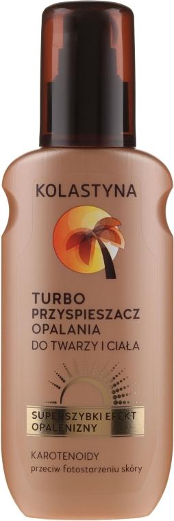 Turbo-Bräunungsbeschleuniger für Gesicht und Körper - Kolastyna Suncare Turbo