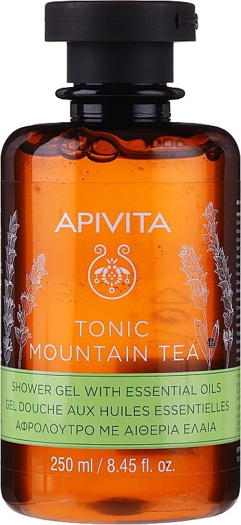 Duschgel mit Gebirgstee und ätherischen Ölen - Apivita Tonic Mountain Tea Shower Gel with Essential Oils
