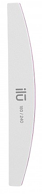 Doppelseitige Nagelfeile 180/240 Halbmond - Ilu White Bride File Grid 180/240