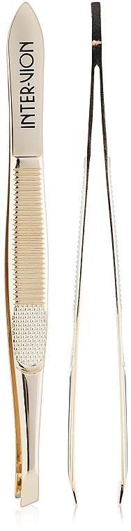 Pinzette 499925 schräg gold - Inter-Vion