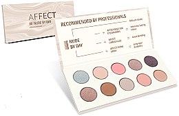 Düfte, Parfümerie und Kosmetik Lidschattenpalette - Affect Cosmetics Nude By Day Eyeshadow Palette
