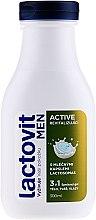 Düfte, Parfümerie und Kosmetik 3in1 Revitalisierendes Duschgel für Männer - Lactovit Men Active 3v1 Shower Gel