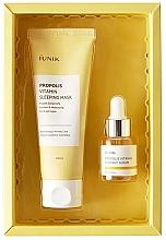 Düfte, Parfümerie und Kosmetik Gesichtspflegeset - iUNIK Propolis Edition Skin Care Set (Schlafmaske 60ml + Gesichtsserum 15ml)