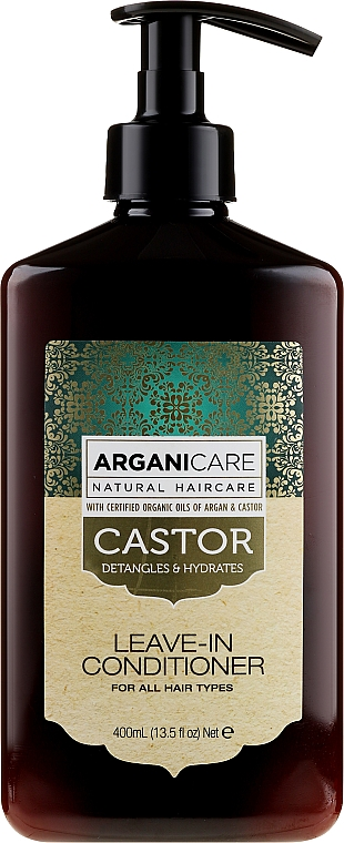 Pflegender Conditioner zum Haarwachstum mit Rizinusöl ohne Ausspülen - Arganicare Castor Oil Leave-in Conditioner