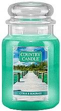 Düfte, Parfümerie und Kosmetik Duftkerze im Glas Citrus & Seagrass - Country Candle Citrus & Seagrass