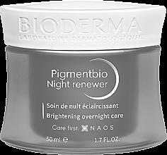Düfte, Parfümerie und Kosmetik Aufhellende Nachtcreme für empfindliche Haut - Bioderma Pigmentbio Night Renewer Brightening Overnight Care
