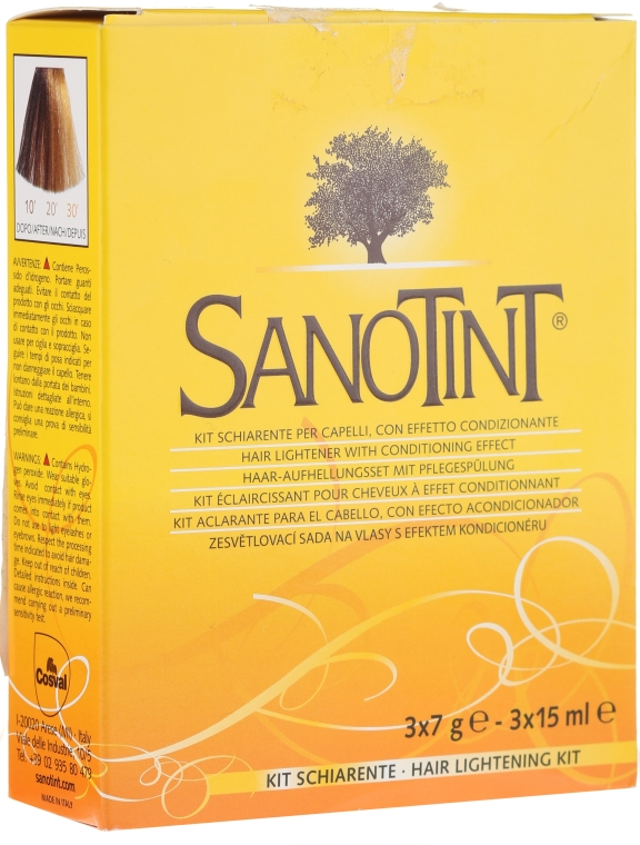 Aufhellungsset für Haare - Sanotint Lightening Kit (lightner/3x7g + activator/3x15ml)