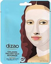 Düfte, Parfümerie und Kosmetik Feuchtigkeitsspendende und glättende Lifting-Tuchmaske für Gesicht und Hals mit Kollagen - Dizao Collagen Face & Neck Botomask