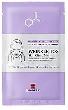 Düfte, Parfümerie und Kosmetik Straffende Tuchmaske mit Liftingeffekt für reife Haut - Leaders Wrinkle Tox Skin Clinic Mask
