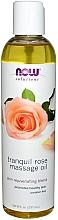 Düfte, Parfümerie und Kosmetik Verjüngendes Massageöl mit Rosenduft - Now Foods Solutions Tranquil Rose Massage Oi